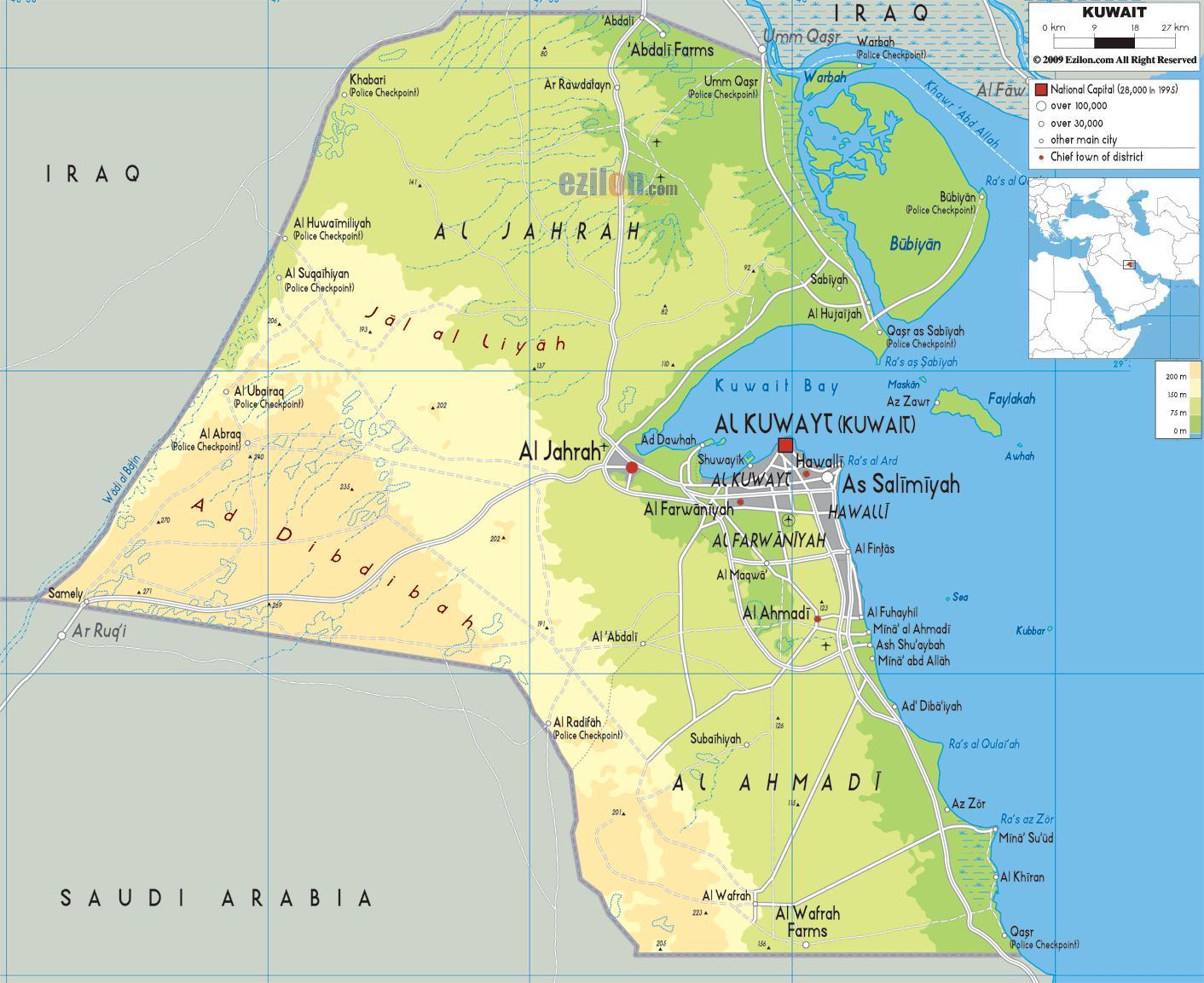 Arifjan in kuwait-map - Karte von arifjan in kuwait (West ...